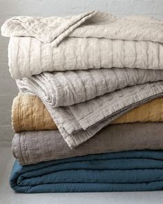 Shop cotton quilts and coverlets at Garnet Hill. Find heirloom-quality pieced or solid cotton quilts and coverlets in twin, full, queen, and king size. Textiles, Home Bedroom, Bedroom Decor, Master Bedroom, Bedrooms, Bedroom Ideas, Master Suite, Living Colors, Bed Linen Design