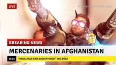Soldiers without borders right? Video Game Memes, Video Games Funny, Gamer Humor, Gaming Memes, Funny Gags, Stupid Funny Memes, Snake Metal Gear, Metal Gear Solid Series, Mgs V