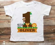 Personalized Safari Jungle Birthday Shirt Matching Family Shirts found Here: Dad of the Birthday Boy Shirt: http://etsy.me/1VaG1Ne Mom of the Birthday Boy Shirt: http://etsy.me/25MnWIV Brother of the Birthday Boy Shirt: http://etsy.me/25Mo1fH ♥ ITEM DESCRIPTION 1 - Personalized