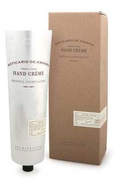 Boticario de Havana Hand Crème - Thick and luxurious hand crème blended with natural ingredients straight from the islands: jojoba esters, extracts of sugar cane, coffee and pineapple that provide immediate relief to rough, dry and irritated skin without leaving hands oily or greasy. | Boticario de Havana Collection