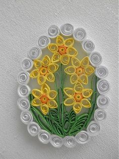 I made Easter decoration from paper with quilling technique, . - I made Easter decoration from paper with quilling technique, … – - Neli Quilling, Paper Quilling Flowers, Paper Quilling Patterns, Origami And Quilling, Quilled Paper Art, Quilling Paper Craft, Quilling Letters, Quilled Creations, Quilling Tutorial