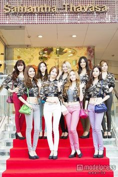 130918 SNSD @ Samantha Thavasa jeans event in Japan