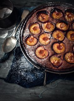 Chocolate Frangipane Plum Tart by whatkatieeats: Serve hot with good quality vanilla bean ice-cream and a sprinkling of Amaretto liqueur (latter optional).  #Chocolate_Plum_Tart #whatkatieeats