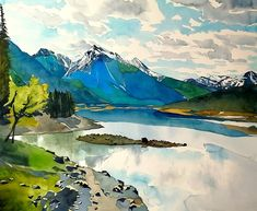Woman Artist, Painter, Storyteller, Hopeaholic, Jew on a Journey. Painting in puddles because watercolours are the BOMB! Artist Art, Artist Painting, Watercolor Paintings, Watercolours, Art Boards, Storytelling, Buy Art, Journey, Mountains
