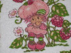 Vtg-1980-Strawberry-Shortcake-Pot-holder-Raspberry-Tart-Hand-Towel-Washcloth