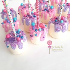 780 Likes, 21 Kommentare - Cake Pops & Confections ( auf Insta . - HH 2018 B-day party - Cake pops rezepte Chocolate Dipped Marshmallows, How To Make Marshmallows, Marshmallow Dip, Chocolate Covered Apples, Cake Chocolate, Jojo Siwa Birthday, Unicorn Birthday Parties, Snacks Für Party, Party Treats