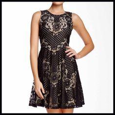Two-tone Fit & Flare Dress Two-tone Fit & Flare Dress ECI Dresses