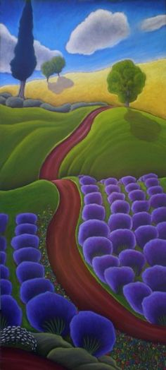 Lavender Fields ~ Jane Aukshunas