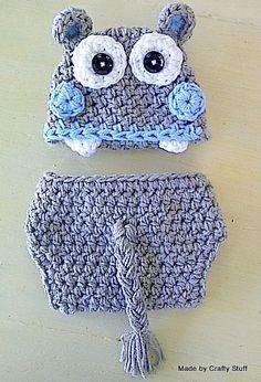 Crafty Stuff & Cutie Pie Photo Props, little Happy Hippo set