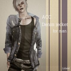 My Sims 3 Blog: Accessory Denim Jacket for Males & Females by Littlemsim