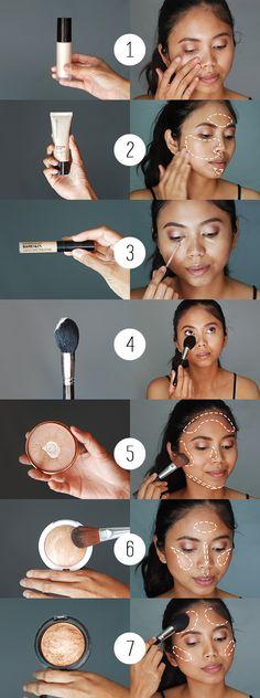 Makeup tutorial foundation routine tips 31 Ideas - Makeup Tutorial Foundation Make Up Tutorials, Best Makeup Tutorials, Best Makeup Tips, Best Makeup Products, Makeup Ideas, Makeup Hacks, Makeup Trends, Dewy Makeup Tutorial, Makeup Tutorial Foundation