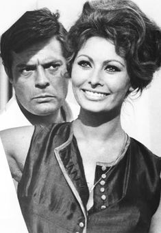 """"""" Sophia Loren & Marcello Mastroianni in Matrimonio all'italiana, 1964. """""""