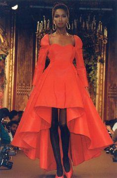 Fall-Winter 1988 Haute Couture Christian Lacroix Katoucha Niane