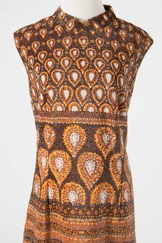 vintage lurex maxi dress