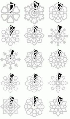 enfeites de natal flocos de neve de papel