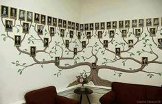 Wonderful DIY Amazing Family Tree Wall Art If you are looking for something special to decorate your home, here it is ! Genealogy or study of family lineage is a very popular hobby around the Family Tree Wall Decor, Family Tree Photo, Family Wall, Photo Tree, Family Trees, Family Photos, Family Room, Metal Tree Wall Art, Diy Wall Art