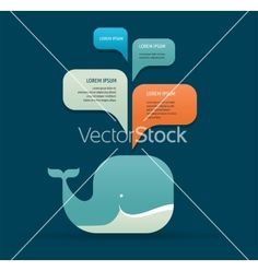 Whale icon with speech bubbles vector 4156319 - by ma_rish on VectorStock®
