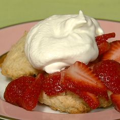 Strawberry Shortcake from The Chew - could replace cream with greek yogurt and honey
