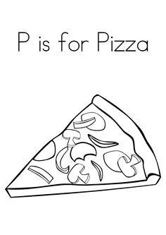 Make A Pizza coloring page Visual Closure Pinterest