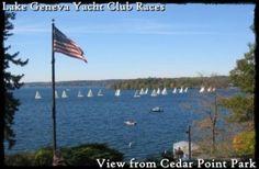 Lake Geneva Yacht Club Race viewed from Cedar Point Park in Williams Bay WI