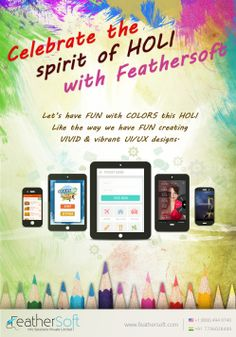 Holi Wishes from Feathersoft to its Social media fans
