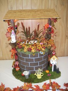 DIY Wishing Well:  Wishing well made for a friend's son's wedding - turned out awesome!