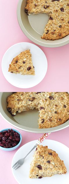 Cranberry Cottage Cheese Baked Oatmeal | The Breakfast Drama Queen