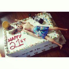 21st birthday cake for men!
