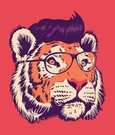 tiger cartoon Art Print