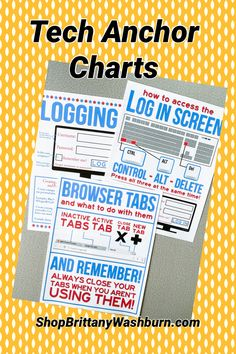 Do you ever find yourself saying the same things over and over in the computer lab? Like the instructions for allowing Flash, or to wait for the page to load and stop clicking? Whenever I have to say something to more than one class more than about 5 times, I know it is time for an anchor chart. These 12 Tech anchor charts will save you so much time and help your students to master basic troubleshooting. Computer Lessons, Technology Lessons, Technology Tools, Computer Lab, Educational Technology, Physical Education Games, Health Education, Library Lessons, Learning Spaces