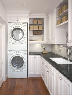 White Laundry Room Ideas With Storage Ideas26
