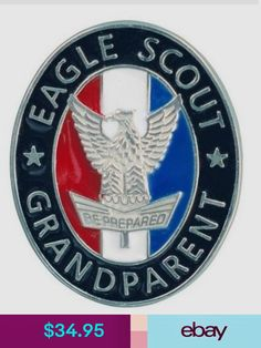 Boy Scout Official Licensed Eagle Scout Grandparent Pin For Grandma or Grandpop Party Logo, Eagle Scout, Boy Scouts, Logos, Scouts, Logo, A Logo, Boy Scouting