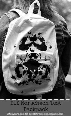 DIY Rorschach Mochila prueba