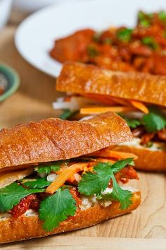Vietnamese sandwiches - my new love.  Links for other sandwich flavors, too.