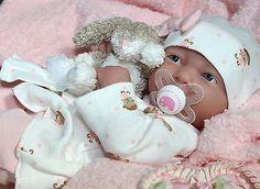 """BEARY SWEET"" Baby! Berenguer Life Like Newborn Reborn Pacifier Doll + Extras"