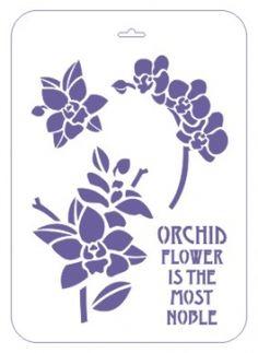 """Трафарет пластиковый многоразовый, 22х31 см, """"Орхидея фаленопсис"""""""