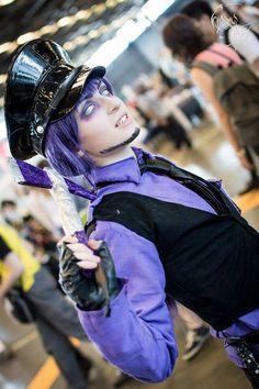 Purple guy- FNAF cosplay (Japan Expo 2015 ) by AlicexLiddell.deviantart.com on @DeviantArt