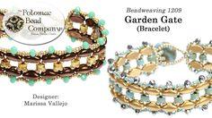 Beadweaving 1209   Garden Gate Bracelet - YouTube