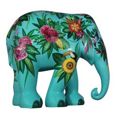 Tropical Floral by Wanchalerm Mueanpang Happy Elephant, Asian Elephant, Elephant Love, Elephant Art, Elephant Stuff, Elephant Jewelry, Famous Elephants, All About Elephants, Elephants Photos