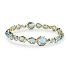Ippolita: Gelato Bangle in Blue Topaz