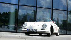 Turn-e El Speedster: Elektrischer Porsche OIdtimer Porsche 356 Replica, Car, Autos, Filling Station, Gymnastics, Automobile, Cars
