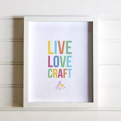 live love craft printable