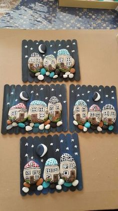 How to Make Painted Pebbles and River Stone Crafts? Pebble Painting, Pebble Art, Stone Painting, Pebble Stone, Hobbies And Crafts, Diy And Crafts, Crafts For Kids, Arts And Crafts, Easy Crafts