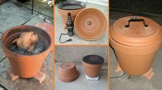DIY Build A Smoker Out Of Clay / Terracotta Pots! Terracotta pots are pretty stinkin versatile. Did you know that they can be used for much more than growing flowers? It's true! Now get smoking this summer with your favorite recipes! Clay Pot Crafts, Diy Clay, Diy And Crafts, Pots D'argile, Clay Pots, Ceramic Pots, Diy Barbecue, Build Your Own Smoker, Diy Smoker