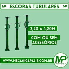 Escoras Tubulares, de 3,20 a 4,20m, com ou sem acessórios. Confira já esse e diversos outros produtos em nosso site! Acesse: www.mecanicapalis.com.br