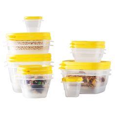 24-Piece Plastic Food Storage Container Set