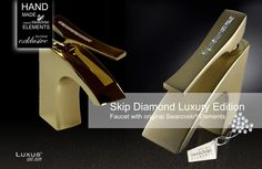 Skip Diamond Faucet Luxury Edition ein faszinierend exklusives Interior Design mit erstaunlichen visuellen Effekten mit mit original Swarovski ELEMENTS