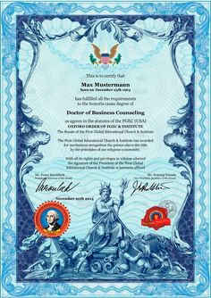 Professor, University Certificate, Real Id, Counseling, Military, History, Home, Certificate, Printing