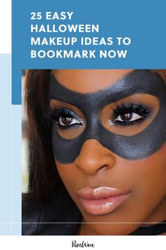 Here are 25 easy Halloween makeup ideas that don't require too much time or skill. Face Makeup Kit, Mime Makeup, Deer Makeup, Makeup Set, Makeup Ideas, Costume Makeup, Makeup Tutorials, Halloween Makeup For Kids, Easy Halloween