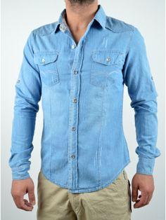 Ανδρικά Ρούχα Denim Button Up, Button Up Shirts, Summer, Blue, Dresses, Women, Fashion, Vestidos, Moda